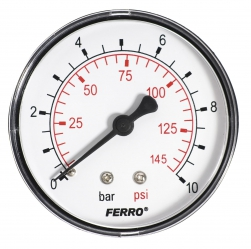 "Manometer 63mm 1/4"" zadný 0-10bar"